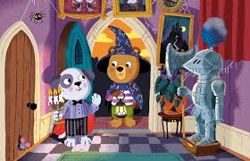 Bezig beertje in het spookhuis wonderland - Huis placemat wereld ...